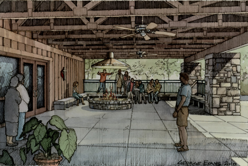 New Glisson Dining Hall Porch