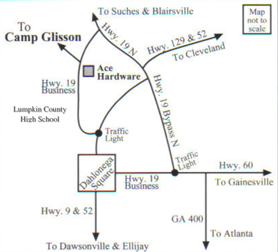 Camp Glisson Directions Map