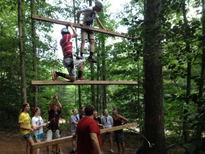 Glisson High Elements Course: Giant's Ladder