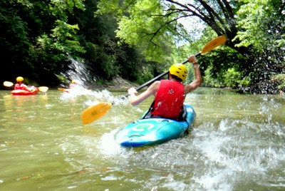 White Water Kayaking at Glisson